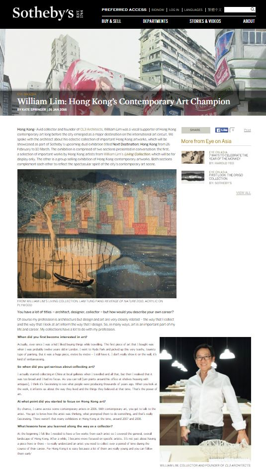 160126_Eye on Asia_William Lim Hong Kong's Contemporary Art Champion